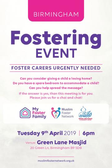 Foster Carers Urgently Needed – Birmingham Meet